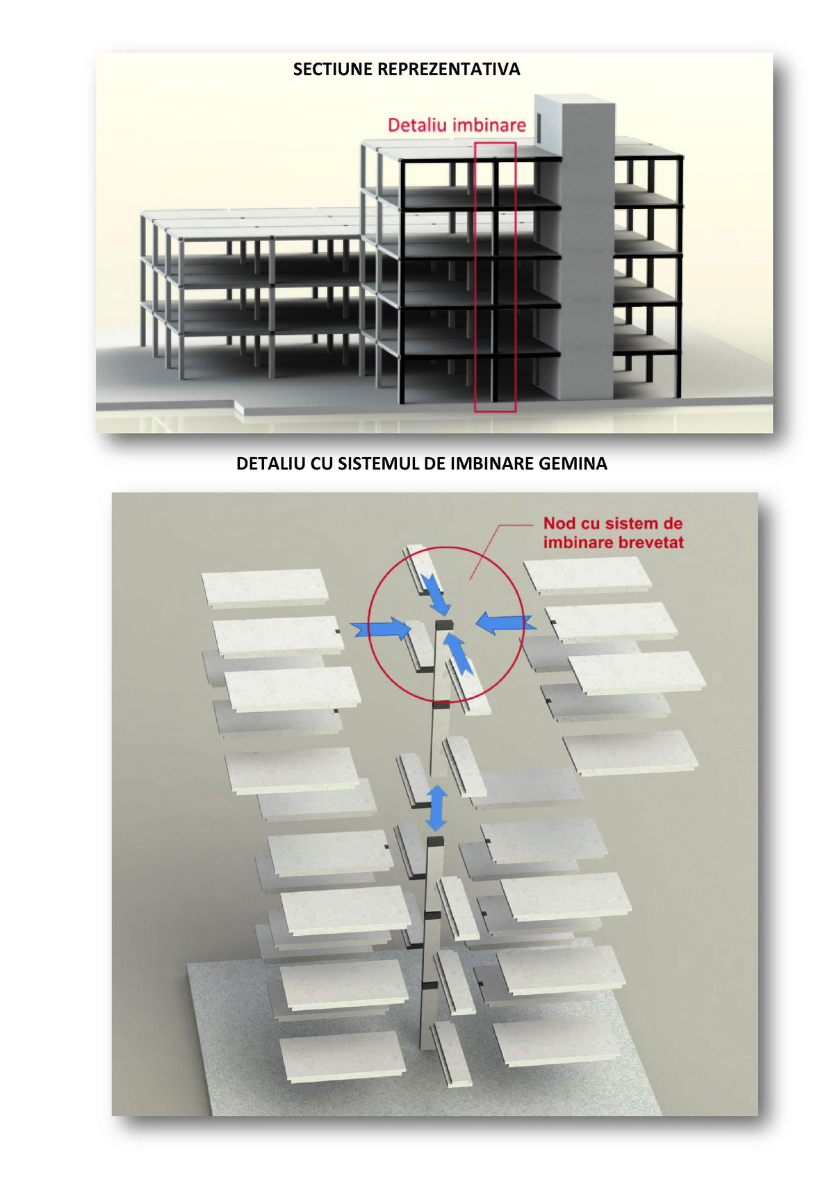 Exemplu de clădire cu  prefabricate pentru construcții civile